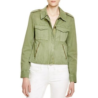 Sanctuary Womens Habitat Military Jacket Twill Zip Front