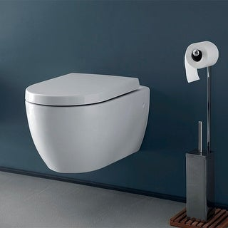 Nameeks 018700  Cerastyle 1.2 GPF Wall Mounted One-Piece Round Toilet with Seat - White