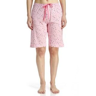 Hue Sleepwear Women's Dot Delight Sleep Bermuda Pajama Shorts