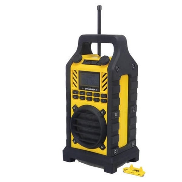 Sylvania SP303-Yellow Heavy Duty Rugged Bluetooth Portable Speaker w/ FM Radio Manufacturer Refurbished