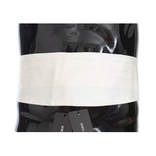 Dolce & Gabbana Dolce & Gabbana White Wide Belt Silk Cummerbund - it44-xs