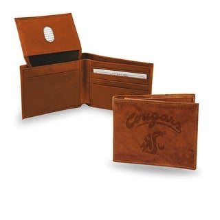 4 Brown College Washington State Cougars Embossed Billfold Wallet N A