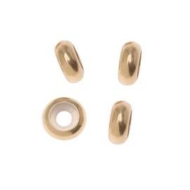 14K Gold Filled Rondelle Smart Bead Spacer Stoppers For Large Hole Bracelets 7x2.7mm (4)