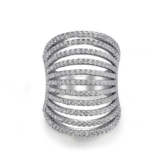 Link to Boho Fashion Pave CZ Full Finger Armor Multi Band Ring Sterling Silver Similar Items in Rings