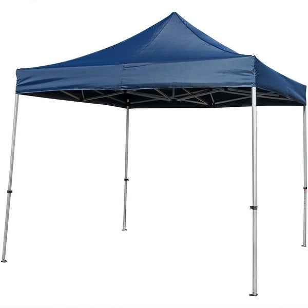 Sunnydaze Commercial Grade Heavy-Duty Aluminum Straight Leg Instant Canopy Event Tent Shelter, 10x10 Foot, Includes Rolling Bag