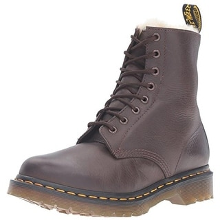 Dr. Martens Womens Serena Leather Lace Up Combat Boots - 9 medium (b,m)