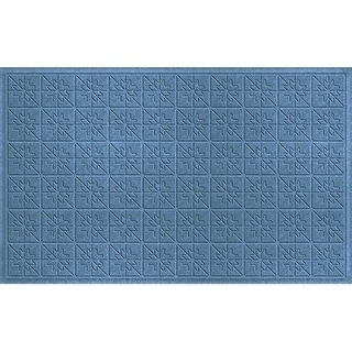 843580035 Water Guard Star Quilt Mat in Bluestone - 3 ft. x 5 ft.