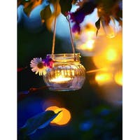 """LED Lighted Tealight Candle with Daisy Scene Canvas Wall Art 15.75"""" x 11.75"""""""