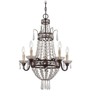 "Minka Lavery 3136  5 Light 27"" Height 1 Tier Empire Chandelier"
