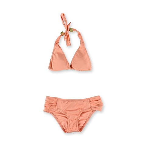 Bar Iii Womens Halter Ruched 2 Piece Bikini