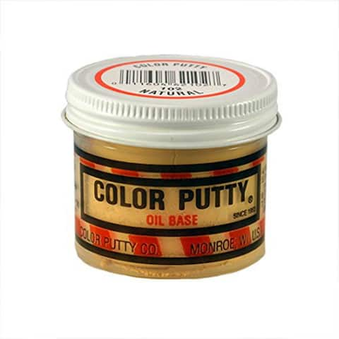 Color Putty 102 Oil Based Putty for Woodwork Paneling, Natural, 3.68 Oz