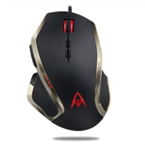 Adesso Mouse iMouse X3 Programable Gaming Mouse with Adjustable DPI and Weight MultiColor Retail
