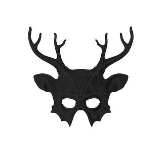 Pure Seasons Wicked Deer Head Mask (Black) - Black