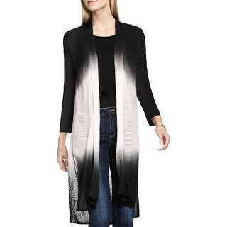 Two by Vince Camuto Womens Sweater Vest Dip-Dye High-Low