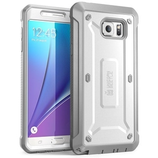 Samsung Galaxy Note 5 Case, SUPCASE,Unicorn Beetle PRO Series, Full-body Rugged Cover -White/Gray