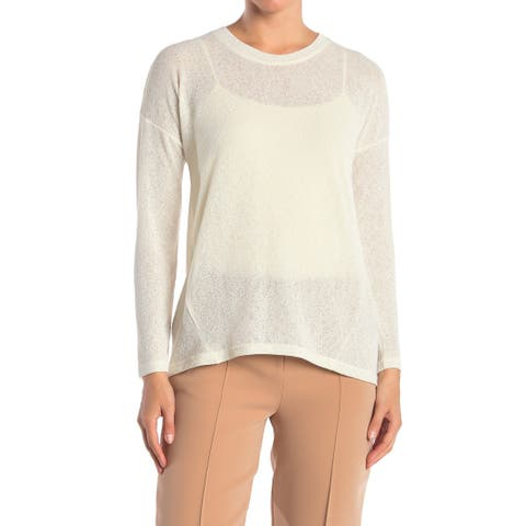 Catherine Malandrino Womens Large Crewneck Knit Top