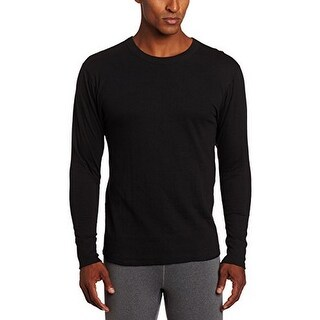 Duofold Mens Mid-Weight Thermal Top, Black, Large