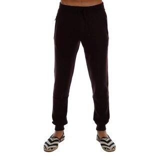 Dolce & Gabbana Purple Cashmere Gym Training Sport Pants