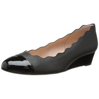 French Sole Womens Miles Closed Toe Wedge Pumps