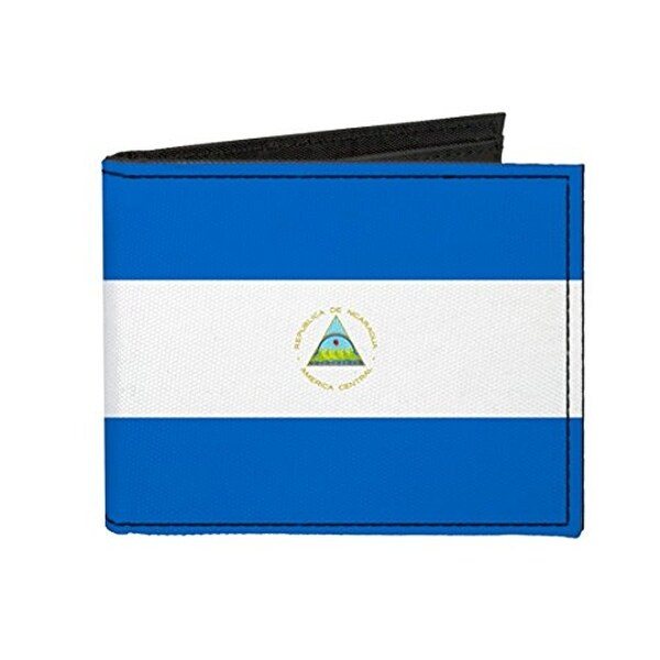 Buckle-Down Canvas Bi-fold Wallet - Nicaragua Flag Accessory
