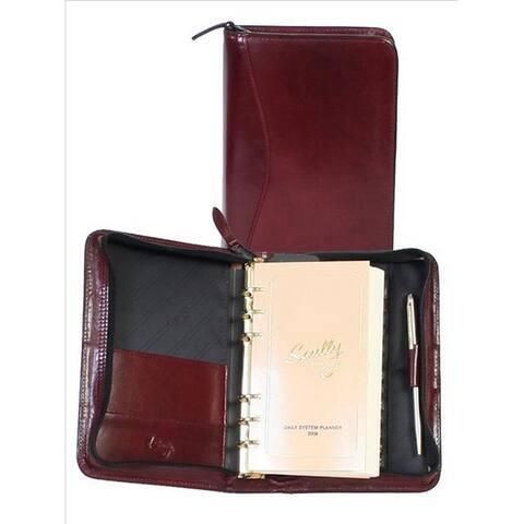 Scully Western Organizer Zip Around Pockets 5.75 x 8 x 1.75 - Walnut - 5.75 x 8 x 1.75