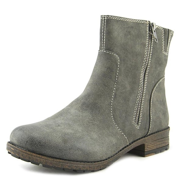 Hokus Pokus Sportster Women Round Toe Leather Gray Ankle Boot