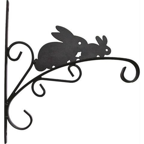 "Mintcraft GF-3055 Rabbit Hanging Planter Bracket, 11"" L, Wall Mount, Matte Black"