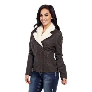 Cripple Creek Western Jacket Womens Removable Collar Zip CW8308