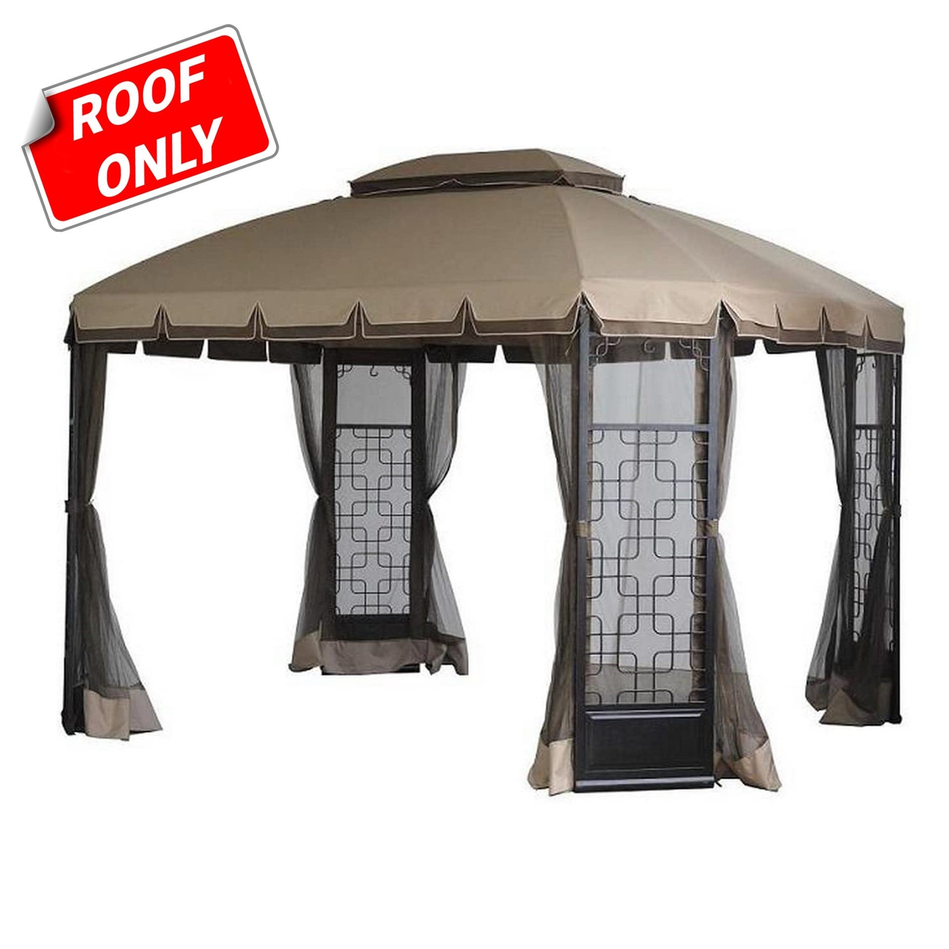 Sunjoy Replacement Canopy Set Deluxe For L Gz454pst A Trellis Gazebo Overstock 20749085