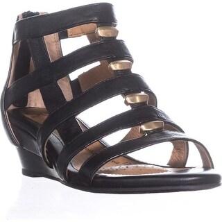 Sofft Rio Wedge Sandals, Black