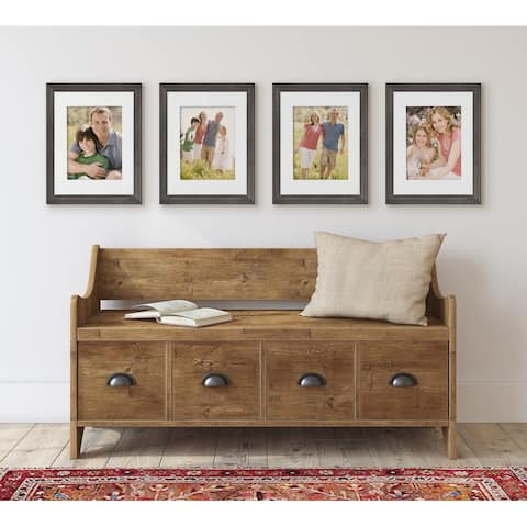 Kate and Laurel Bordeaux Wood Photo Frame Set