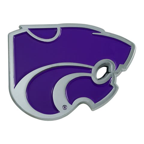 "3"" Purple and Gray NCAA Kansas State Wildcats 3D Emblem - N/A"