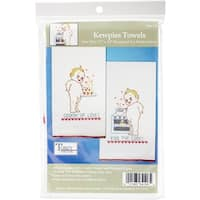 "Tobin Stamped For Embroidery Kitchen Towels 18""X28"" 2/Pkg-Kewpies"
