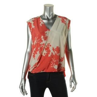 Bailey 44 Womens Silk Floral Print Blouse - XS