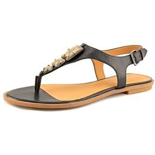 Calvin Klein Ultima Open Toe Leather Thong Sandal