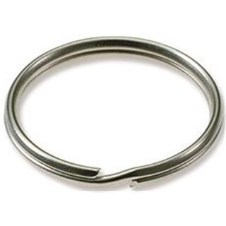 Split Key Ring, 1 in., Nickel-Plated - 100 per Box