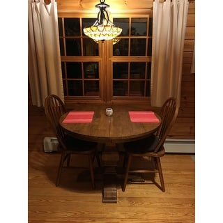 Shop Eleanor Two Tone Oval Solid Wood Top Extending Dining