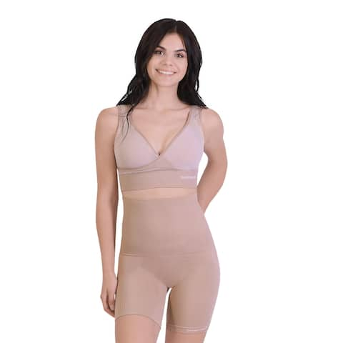 Patent Classic Breathable Comfortable Mid Thigh Shaper Beige - S/M