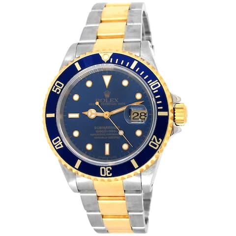 Pre-owned 40mm Two-Tone Blue Submariner Watch
