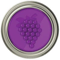 Jarware 82630 Grape Jelly/Jam Decorative Jar Lid, Regular Mouth, 4/Pack