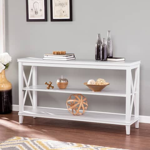 Porch and Den Lark Transitional Wood Console Table with Storage