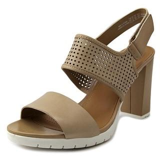 Clarks Pastina Lima Women W Open-Toe Leather Heels