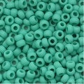 Toho Round Seed Beads 8/0 55F 'Opaque Frosted Turquoise' 8 Gram Tube - Thumbnail 0