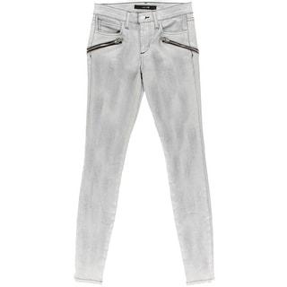 Joe's Jeans Womens Skinny Jeans Denim Coated - 25