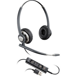 Plantronics EncorePro HW725 USB Duo Stereo Corded Headset