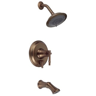 Danze D500045RBDT Tub Shower Faucet Trim Kit Showerhead Distress Bronze No Valve - distressed bronze