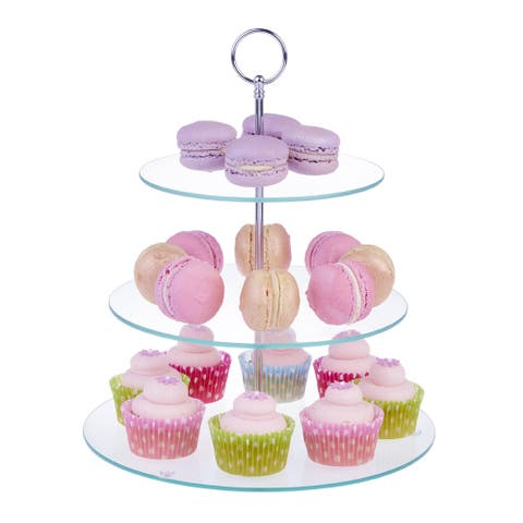 3 Tier Morden Style Morden Style Glass Cake Stand Wedding Cupcake Stand Food Biscuit Stand