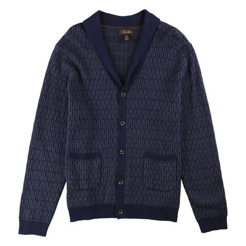 Tasso Elba Mens Jacquard Cardigan Sweater