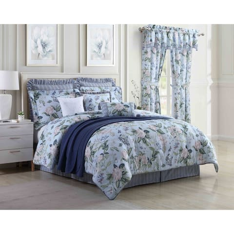 Williamsburg Blue Garden Images 4 Piece Comforter Set