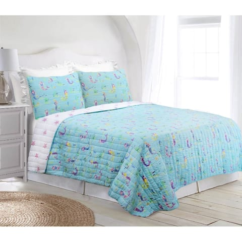 Maddie Mermaid Reversible Super Soft Cotton Quilt Set